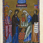 Psalter of Queen Melisende - caption: