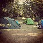 Camping by tetue