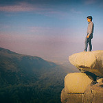 Standing on the edge of the cliff by abhishekmaji